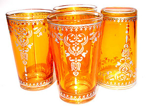 Orange tea glass