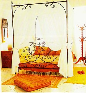 Moroccan king size bed frame