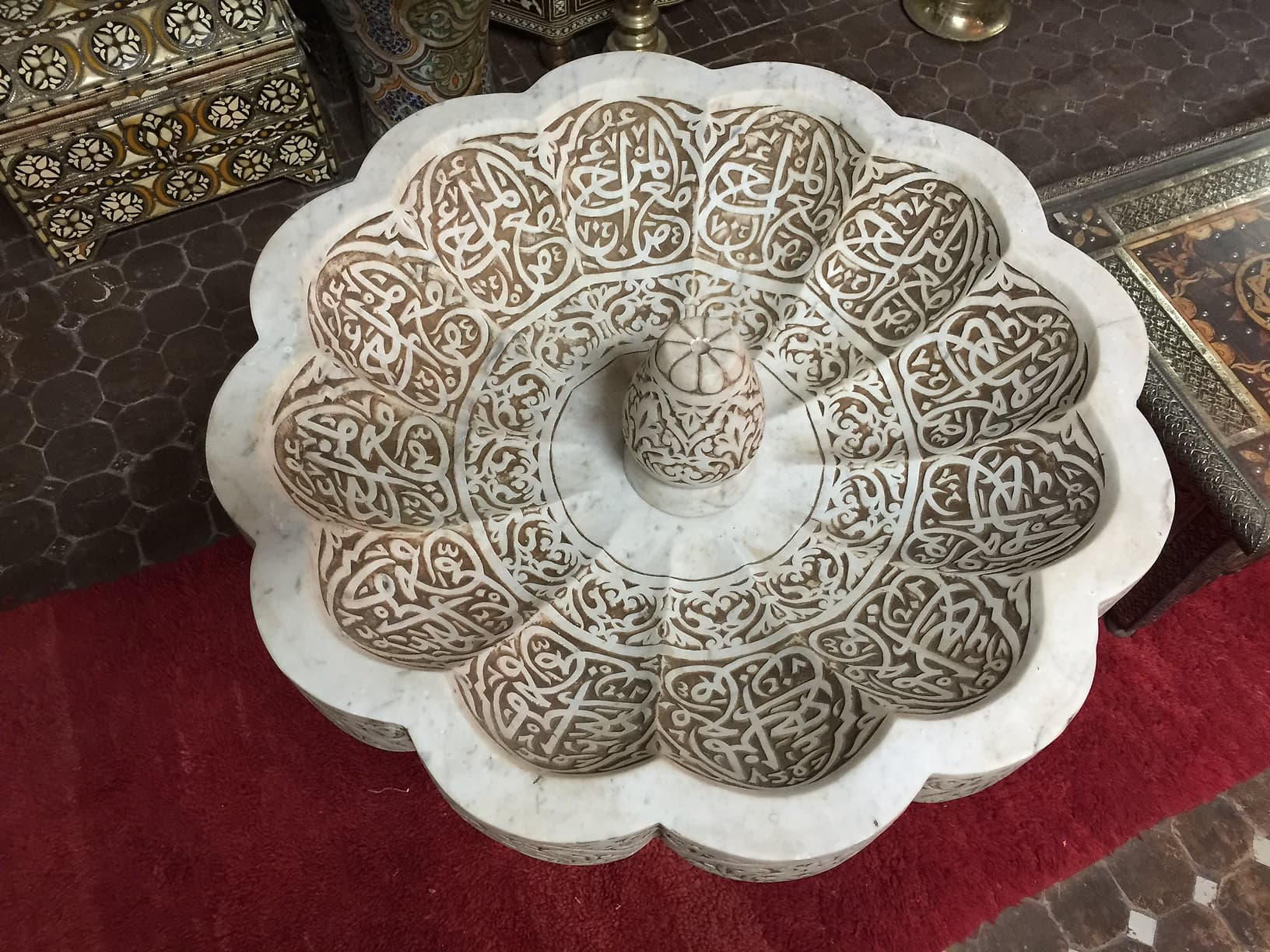 Moroccan tile & mosaic tile fountain