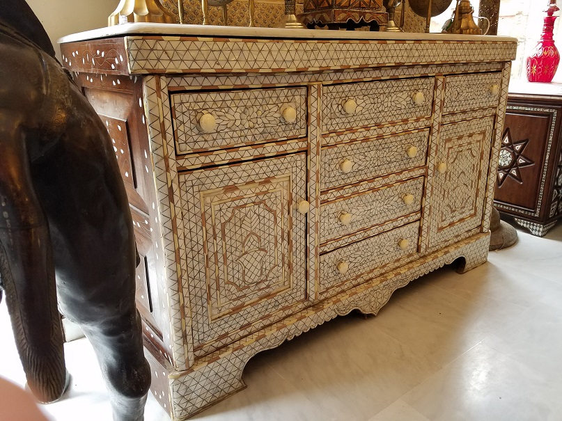 Syrian Mother Of Pearl Inlay Cabinet Aleppo