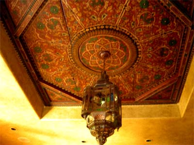 moroccan painted ceiling 2
