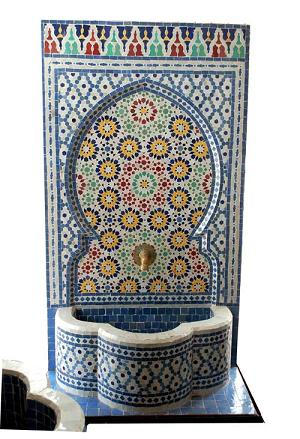 Fes tile fountain