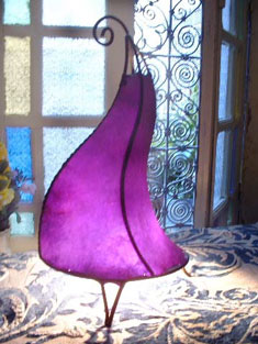 Moroccan lamp Purple passion