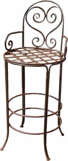 wrought iron bar stools Bar stool   Moroccan wrought iron bar stool   all handmade wrought iron bar stools