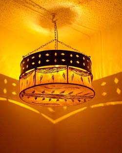 Drum-sconce-hanging lamp