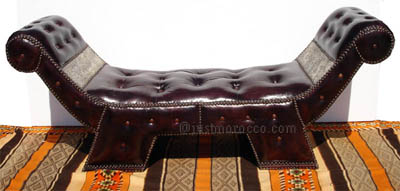 Targa leather chaise