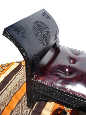 Marrakesh leather bench