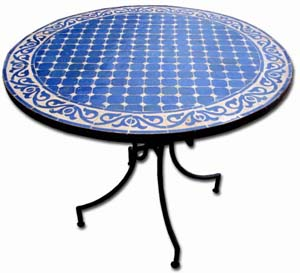 Mosaic table Majorelle
