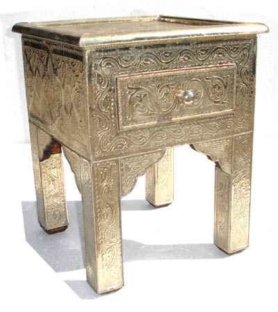 Fez silver nightstand