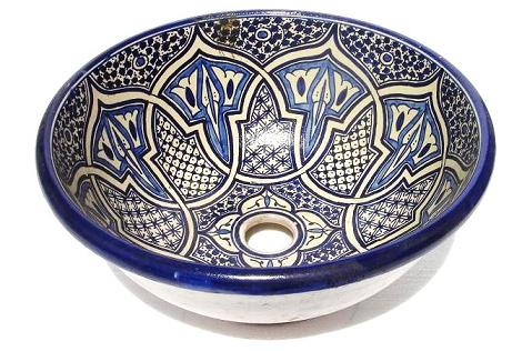 Moroccan Vessel Sink Pottery Bowl