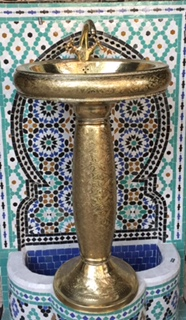 Marrakech brass sink