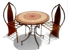 Mosaic bistro table