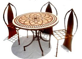 Mosaic patio table