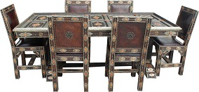 Moroccan dining room set