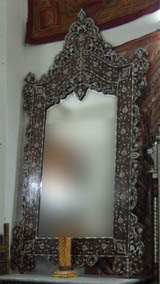 mother of pearl inlay syrianna mirror